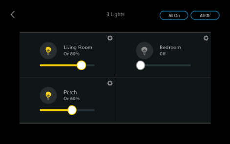 Adjust the lighting levels in the Lights screen.