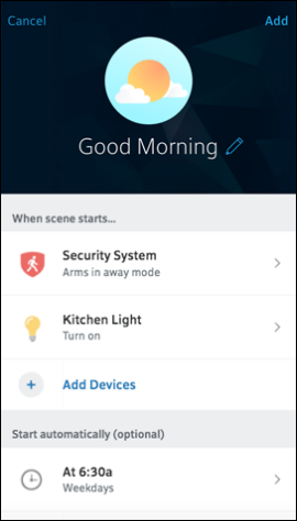 Manage Scenes In The Xfinity Home App For Mobile Devices