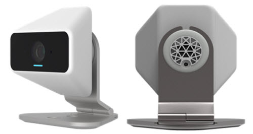 The xCam2, front and back
