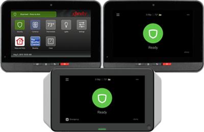Controlador con pantalla táctil de XFINITY Home.