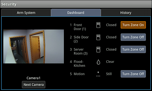 Getting Started with the Xfinity Home Touchscreen Controller (Icons)