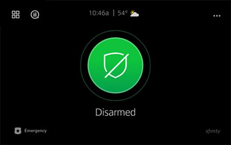 Touchscreen Controller's Home screen.