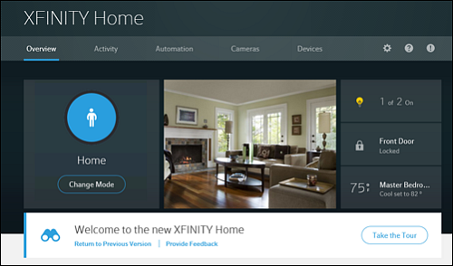 Overview page in the XFINITY Home Subscriber Portal.