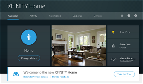 Overview screen in the XFINITY Home Subscriber Portal.