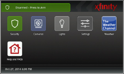 install and pair a centralite light switch your xfinity home xfinity home touch screen main menu