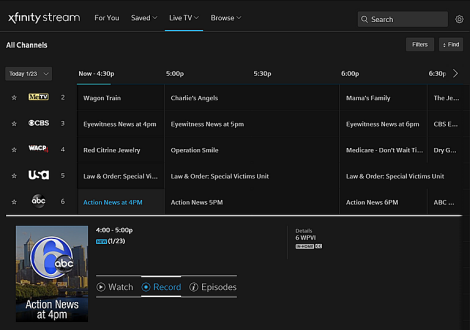 Cloud DVR for Xfinity Instant TV Overview