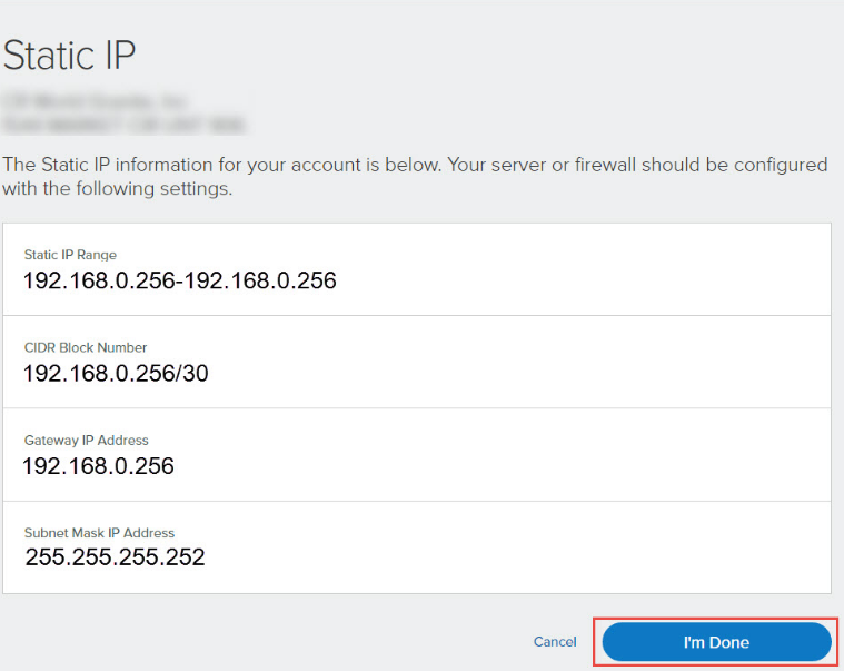 View your Static IP information online | Comcast Business