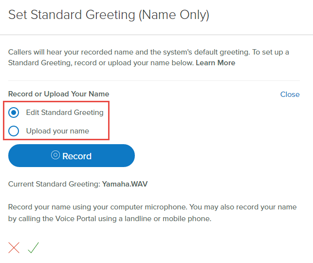 Manage your business voiceedge voicemail settings comcast business select upload your name select upload to upload a wav file please note if you wish to record your name through a hand set via the voice portal m4hsunfo