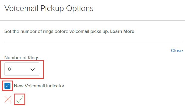 Manage your business voiceedge voicemail settings comcast business in the voicemail pickup options section select the pencil icon make a selection from the number of rings dropdown select the checkbox to enable the new m4hsunfo