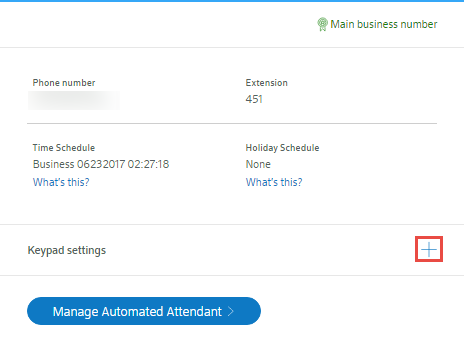 Manage your Automated Attendant settings for Business VoiceEdge