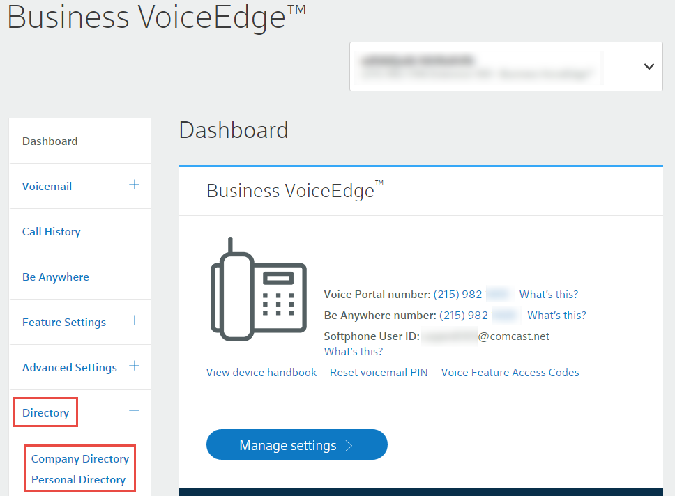 access your business voiceedge contact directories comcast business