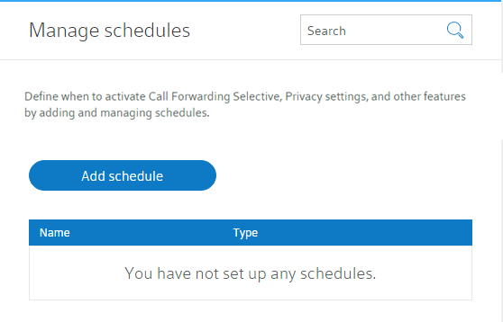 create time and holiday schedules online comcast business