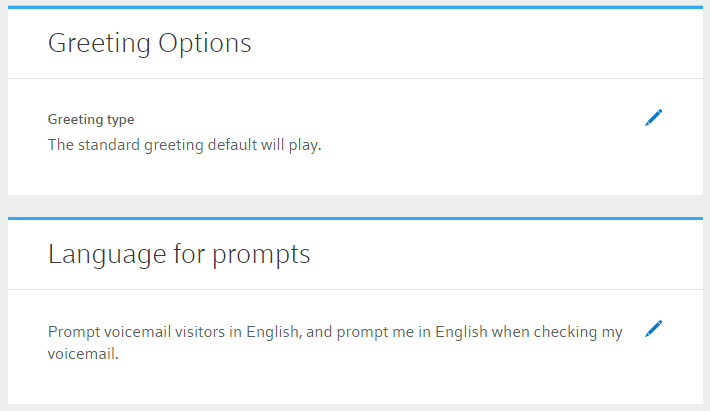 Manage voicemail online comcast business select the pencil icon in the language for prompts section to select english or spanish prompts select the checkmark when finished m4hsunfo
