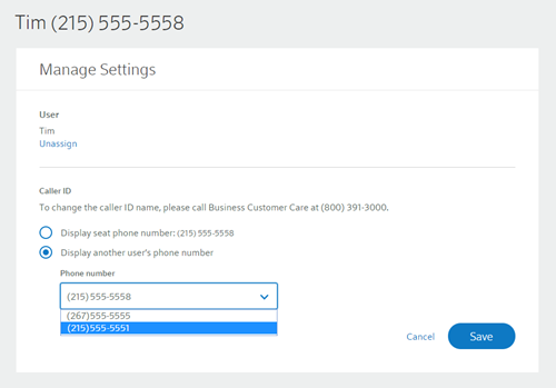 Configure Call Masking online | Comcast Business