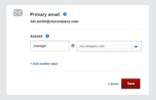 An alias for your comcast business email account comcast business