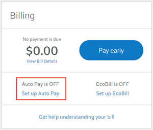 Set up automatic payments