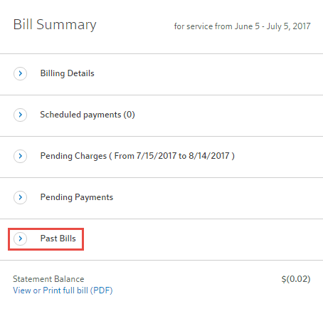 view your past bills online comcast business