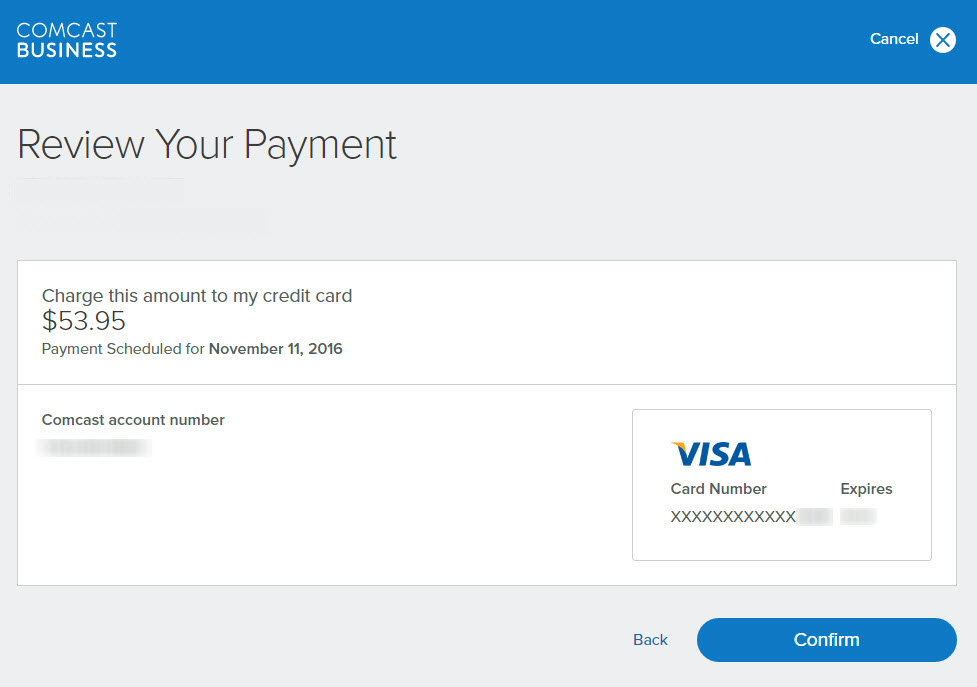 Comcast payment Review