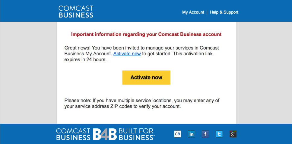 Add, delete, deactivate My Account users | Comcast Business