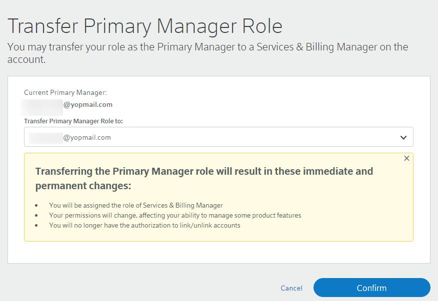 Manage Comcast Business My Account User Permissions Comcast Business