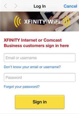 Access Xfinity WiFi hotspots | Comcast Business