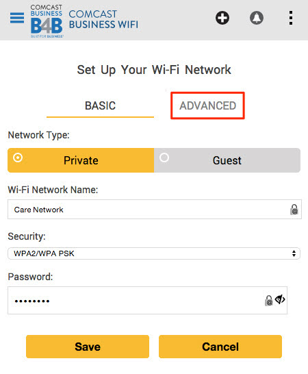 how to set a default page on wifi
